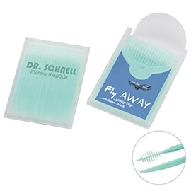 Toothpicks with interdental brush
